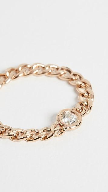Zoe Chicco 14k 金小号锁链戒指