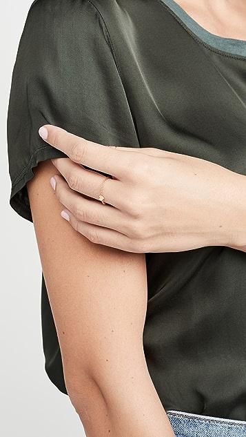 Zoe Chicco 14k 金小心形链式戒指