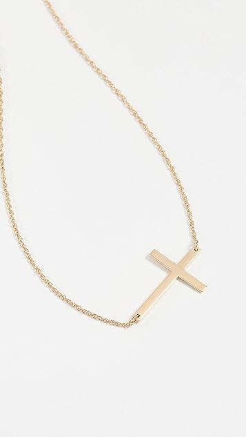 Jennifer Zeuner Jewelry 水平十字项链
