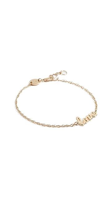 Jennifer Zeuner Jewelry 连写 love 字样吊饰手链