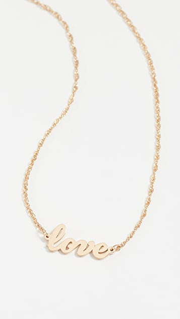 Jennifer Zeuner Jewelry 连写 love 字样吊饰项链