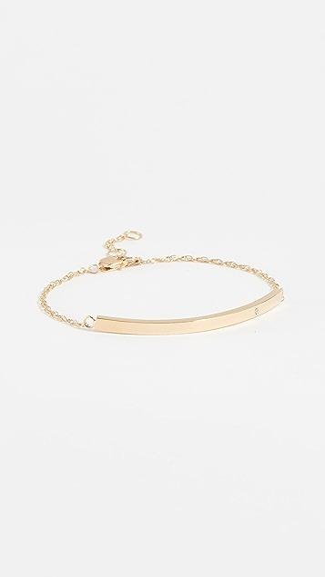 Jennifer Zeuner Jewelry Jennifer Zeuner 带钻石的水平杆状手链