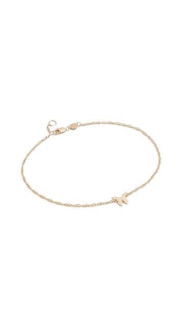 Jennifer Zeuner Jewelry 蝴蝶形脚链