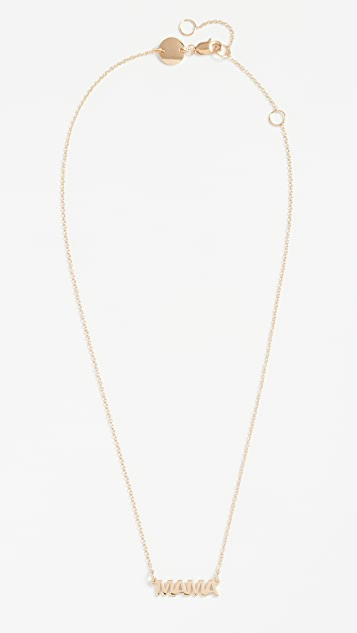 Jennifer Zeuner Jewelry Mercer Mama 项链