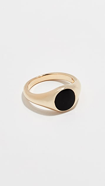 Jennifer Zeuner Jewelry Small Cameron 珐琅戒指