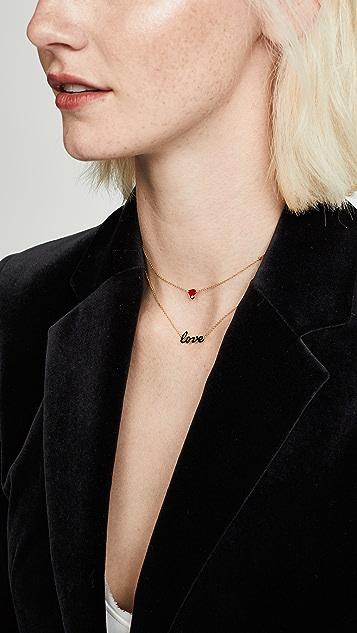 Jennifer Zeuner Jewelry Mia 迷你珐琅项链