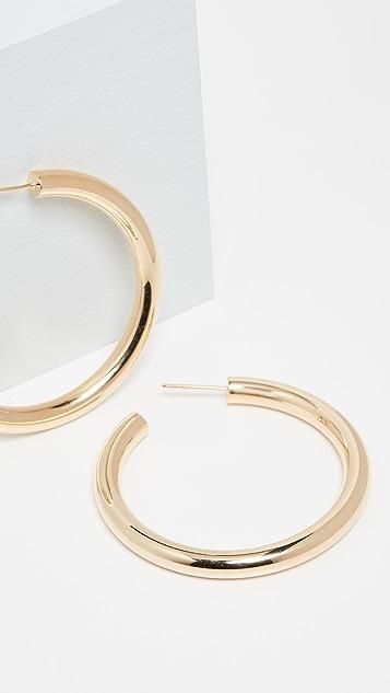Jennifer Zeuner Jewelry Lou 中号环形耳环