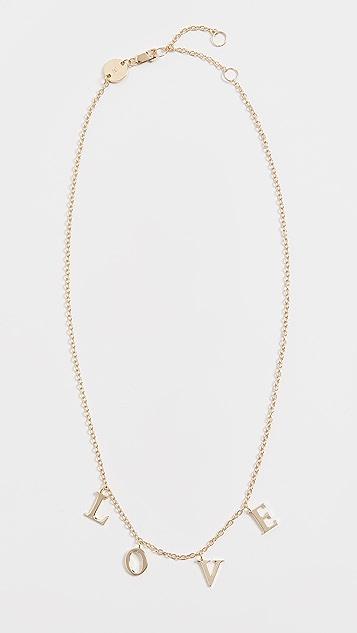Jennifer Zeuner Jewelry Tara LOVE 项链