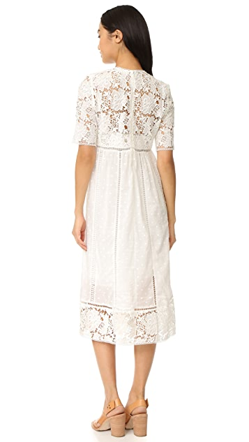 Zimmermann Caravan 刺绣日装连衣裙
