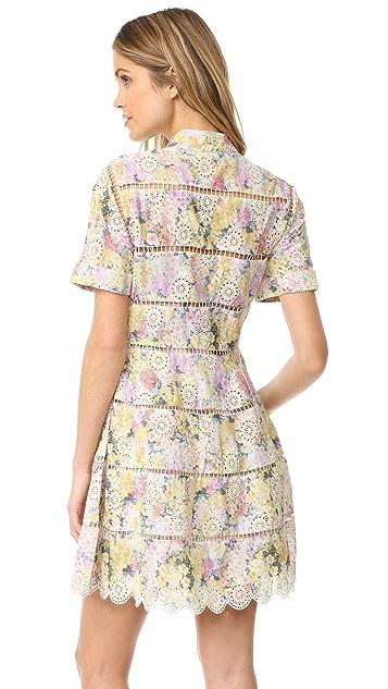 Zimmermann Valour Hydrangea 喇叭连衣裙