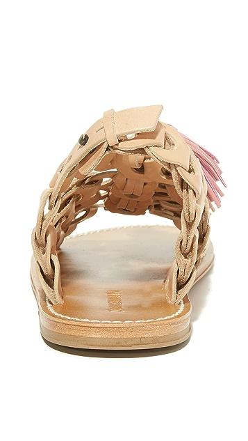 Zimmermann 链式流苏平底凉鞋