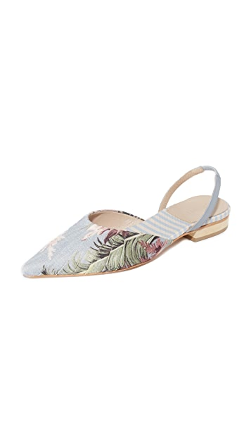Zimmermann 印花平底鞋