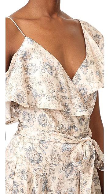 Zimmermann 绳股喇叭形裹身连衣裙