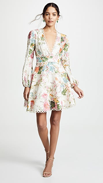 Zimmermann Heathers Flounce 短连衣裙