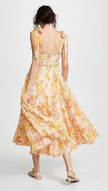 Zimmermann Primrose 裂纹绑带连衣裙