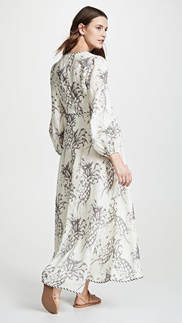 Zimmermann Wayfarer 低 V 领连衣裙