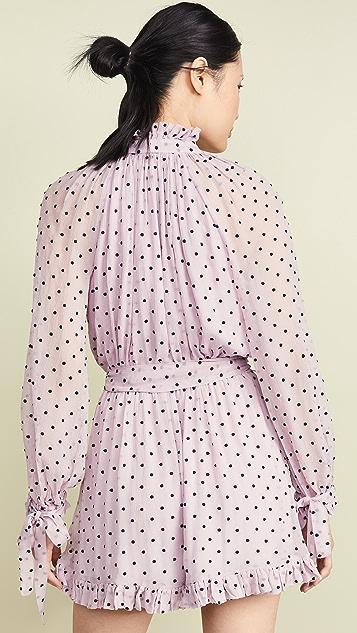 Zimmermann Ninety-Six 领口绑带短款连身衣