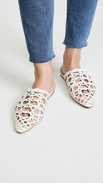 Zimmermann 波纹格子网眼凉拖鞋