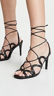 Zimmermann 扇形鞋跟凉鞋