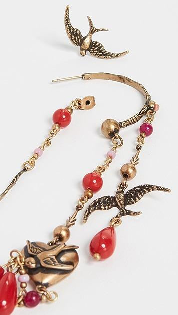 Zimmermann 燕子吊坠圈式耳环