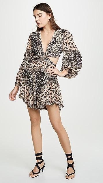 Zimmermann Allia 镂空短连衣裙