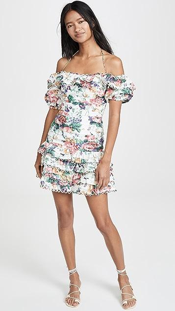 Zimmermann Allia 细褶短连衣裙