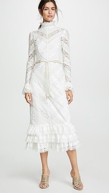 Zimmermann Veneto Perennial 蕾丝连衣裙