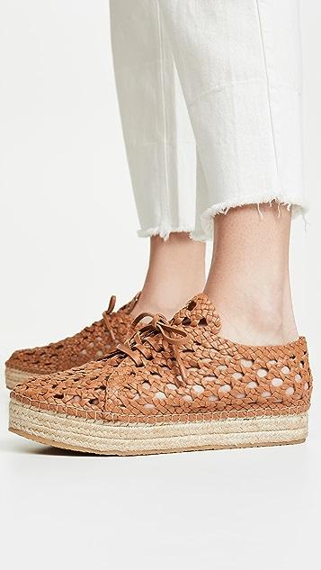 Zimmermann 梭织麻底平底鞋