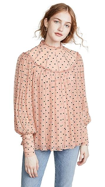 Zimmermann Espionage 飘逸抵肩女式衬衫