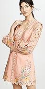 Zimmermann Zinnia 扇形饰边迷你连衣裙