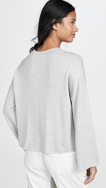 Z Supply 优质针织喇叭袖套头衫