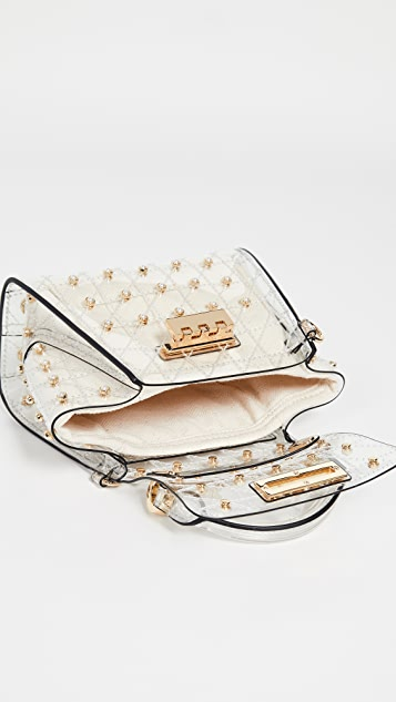 ZAC Zac Posen Eartha Quilted Pearl Lady 迷你顶部提手包