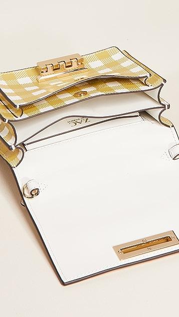 ZAC Zac Posen Earthette 格子风琴褶迷你斜背包