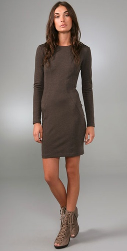 Adam Long Sleeve Dress With Seam Details