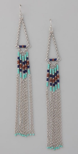 Adia Kibur Long Chain & Beaded Earrings