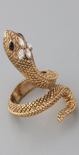 Adia Kibur Snake Spiral Ring from shopbop.com