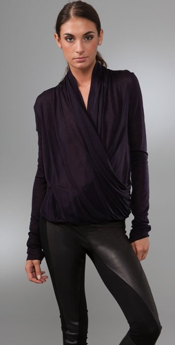 A.l.c. Long Sleeve Drape Top