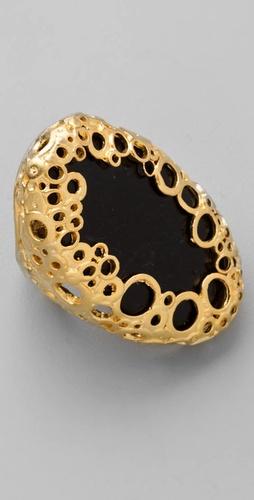 Alexis Bittar Onyx Oval Klimt Ring