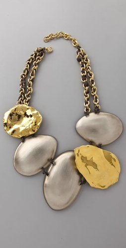 Alexis Bittar Wavy Disc Necklace