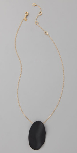 Alexis Bittar Wavy Oval Pendant Necklace