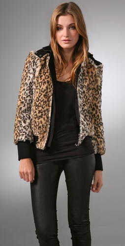 Alice   Olivia Chrissy Faux Fur Jacket