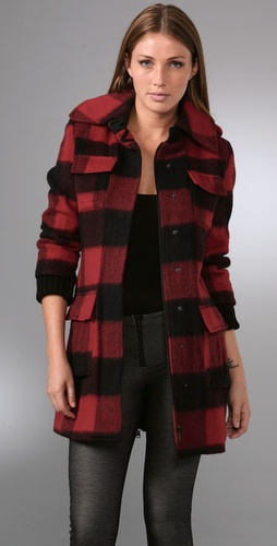 Alice   Olivia Ryan Checked Coat