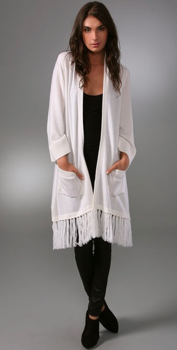 Alice   Olivia Navajo Long Fringed Cardig