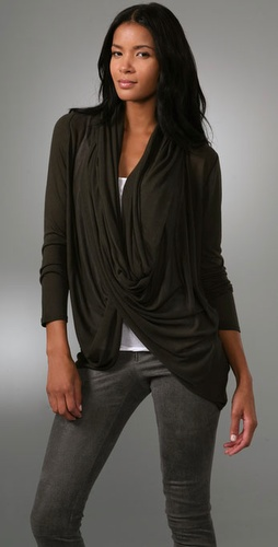 Alice   Olivia Wrap Around Cardigan