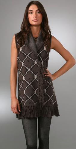 Alice   Olivia Navajo Sweater Vest