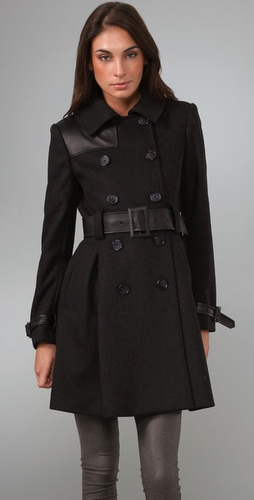 Alice   Olivia Klein Pleat Back Trench