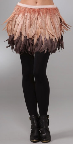 Alice + Olivia Francesca Feather Skirt