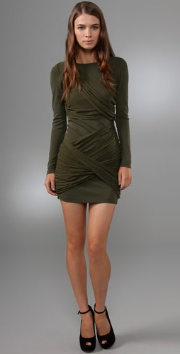 Alice   Olivia Long Sleeve Goddess Dress