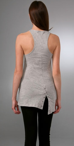 Alice   Olivia Button Back Racer Tank