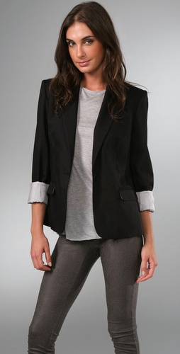 Alice   Olivia Structured Shoulder Blazer